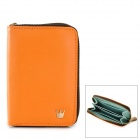 HG0003 Fashion Short PU Money / Cards Zipper Wallet for Women - Orange