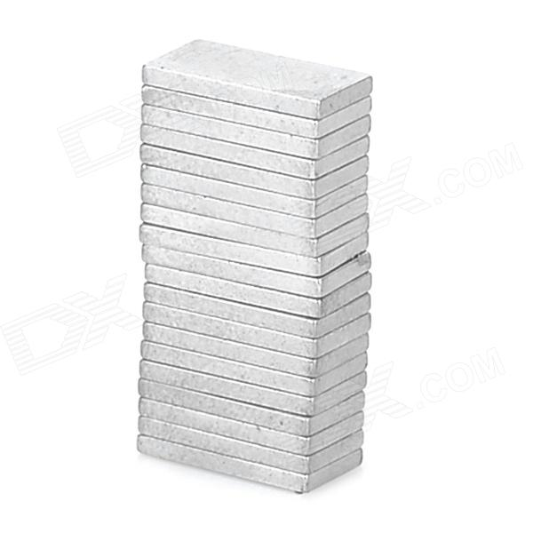 20115 Powerful N38 NdFeB Rectangular Magnet - Silver (20 PCS)