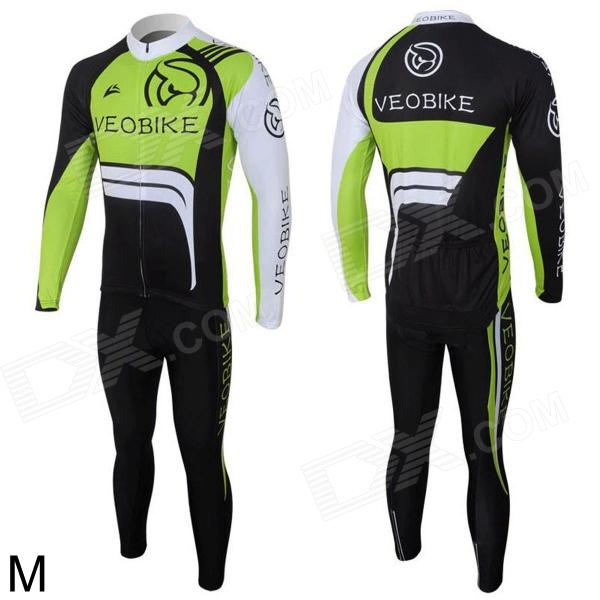 veobike women s cycling long sleeves zippered jersey top white multicolored l Veobike Ghost Men's Cycling Long Sleeves Sweat Suit - Black + Green + White (Size M)
