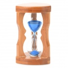 ZW 108 Fashionable Retro Sand Timer Clock Decoration - Wood + Blue + Transparent