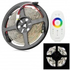 Waterproof 300-5050 SMD LED RGB White Light Flexible Strip Lamp + 2.4GHz 4-CH Touch Controller (5M)