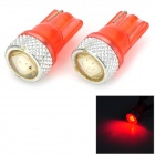 LY462 T10 0.2W 8lm 5050 SMD LED Red Light License Plate / Clearance lamp (12V)
