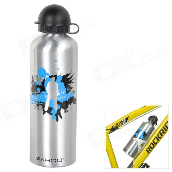 SAHOO 52133 Cycling Aluminum Alloy Water Bottle - Silver (750mL)