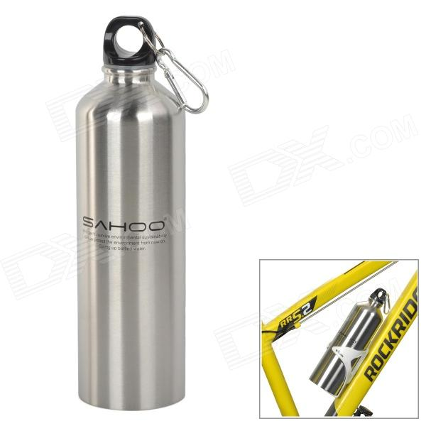 SAHOO 52356 Stainless Steel Water Bottle for Cycling / Outdoor Sports - Silver (750ml)