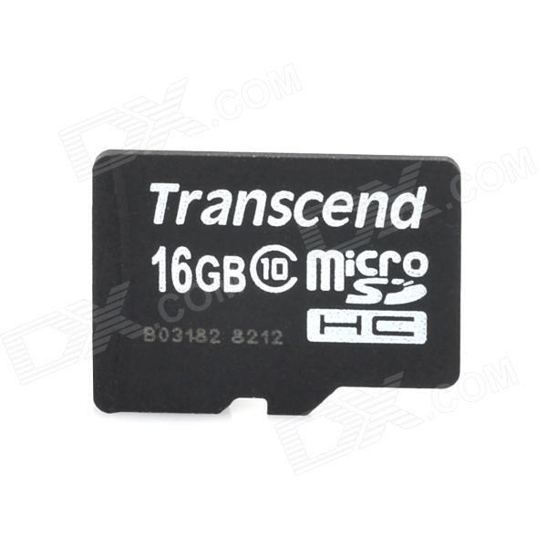 Transcend Micro SDHC / TF Memory Card - Black + White (16GB / Class 10)