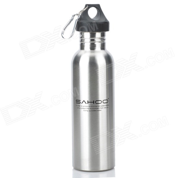 SAHOO 52357 Outdoor Cycling Stainless Steel Water Bottle - Silver (750ml)