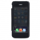 USAMS IP5SCD01 Stylish Flip-open PU + PC Case w/ Unlock Window + Translucent Cover for Iphone 5 / 5s