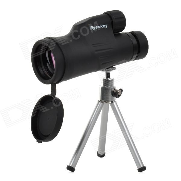 EYESKEY 12X50 12-50X50 Spotting Scope Landscape Lens Monocular Telescope w/ Tripod - Black visionking 8x42 compact hunting monocular for birdwatching bak4 optics waterproof telescope hd zoom spotting scope with tripod