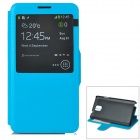 Protective PU Leather Flip-open Holder Case for Samsung Galaxy Note 3 - Light Blue