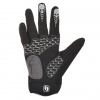 Spakct Cool Finger Joint Cycling Gloves - Black + Green (Pair / Size L)