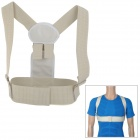Polyester Fiber Back Posture Correction Belt - Creamy White (Size L)