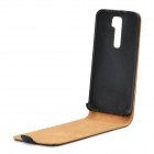 Protective Flip-Open PU Leather Case for LG Optimus G2 / D802 / F320 - Black