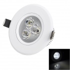 Cnlight CNEISD0301PW 3W 180lm 6500K White 3-LED Ceiling Light / Spotlight - White (220~240V)