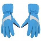 Outdoor Skiing Full Fingers Anti-Slip Hands Warmer Gloves for Women - Blue (Size M / Pair)