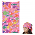 Acacia 6032516 Outdoor Cycling Seamless Polyester Head Scarf for Women - Multicolored