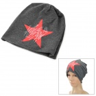 M409 Fashion Star Pattern Lässige Cotton Hat - Tiefes Grau + Rot