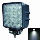 LML-1748 60 Grad FloodBeam 48W 3600lm 6000K 16-LED White Light Car Scheinwerfer - Schwarz (DC 10 ~ 30V)