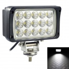 LML-1545 60 Grad Flood Beam-45W 6000K 3375lm 15-LED White Light Car Lamp - Schwarz (DC 10 ~ 30V)