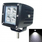 LML-1212 90 Grad FloodBeam 12W 1020lm 6000K 4-CREE XBD White Car Roof Light - Schwarz (DC 10 ~ 30V)