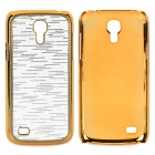 Stylish Protective Plastic Back Case for Samsung i8190 - Golden + Silver