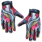QEPAE F7508 Outdoor Sports Cycling Full-Finger Gloves for Men - Multicolored (Pair / Size XL)