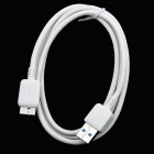 USB 3.0 Micro B Type Male to USB Male Cable - White (100cm)