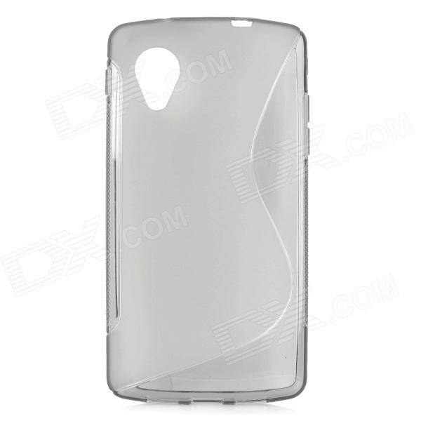 S Style Protective Plastic Back Case for Google Nexus 5 - Translucent Grey protective silicone back case for lg nexus 5 translucent white
