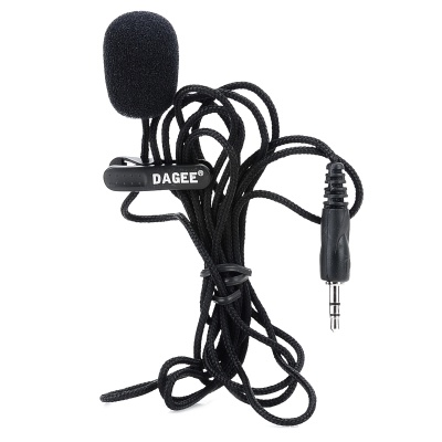DAGEE DG-001 3.5mm Wired Nylon Housing Microphone for PC - Black (2m)