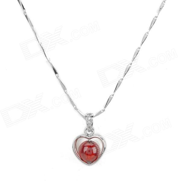 XL-01 Elegant Silver Plating Pendant Necklace for Women - Red + Silver Des Moines buy ads