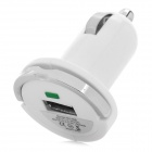 Y-C-W Universal USB Output Car Charger w/ Grip + Indiator - White