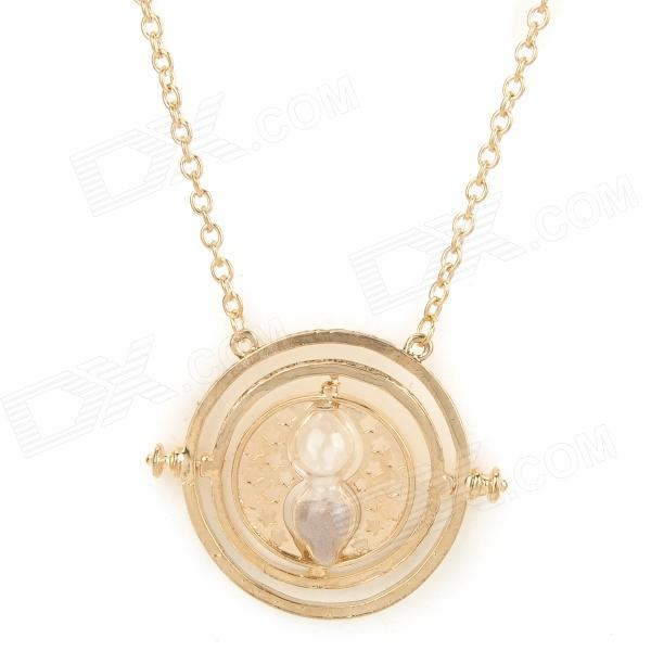 Fashion Hourglass Style Zinc Alloy Pendant Necklace for Women - Golden