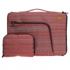 "Tee 15"" Shock-Proof Water Resistant One-shoulder Sleeves Bag w/ Handle for Notebook - Red + White"