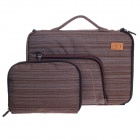 "Tee 11"" One-shoulder Notebook Laptop Sleeves Bag w/ Handle for Ipad / 2 / Ipad - Coffee + White"