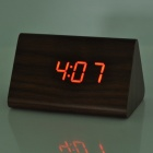 828 Madeira Voice Control LED Backlight Red Alarm Clock - Brown