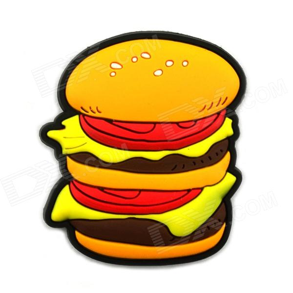 3.5 x 4.4cm Cartoon Hamburg Style Creative Fridge Magnet Sticker - Orange + Yellow