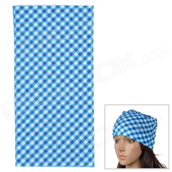 6032424 Outdoor Cycling Seamless Polyester Head Scarf for Men - Blue