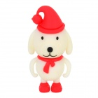Christmas Dog Style USB 2.0 Flash Drive - Red + White + Black (8GB)