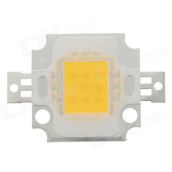10W 1000lm 3200k LED Warm White Light Source - Silver + Yellow (29~31V / 300mA)
