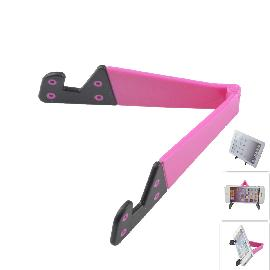 AYA-101 ABS Holder Stand for Iphone / Samsung / Sony / Cell Phone / Tablet PC - Deep Pink + Black