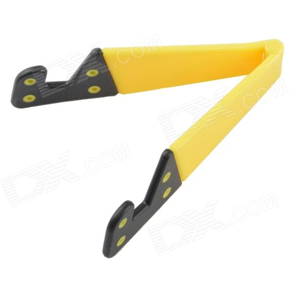 AYA-101 ABS Holder Stand for Iphone / Samsung / Sony / Cell Phone / Tablet PC - Yellow + Black