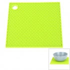 Square Shaped Silicone Anti-Slip Heat Resistant Pad Mat - Green