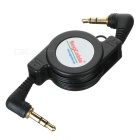 3.5mm Retractable Stereo Audio Male to Male Data Cable (65CM-Length)