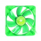 Evercool 12cm Lubricate Bearing 7-Blade Fan for Computer Chassis - Green
