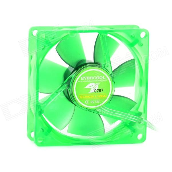 Evercool 8cm Lubricate Bearing 7-Blade Fan for Computer Chassis - Green