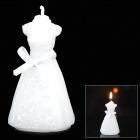 Romantic Wedding Style Wax Candle - White