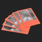 ZCX ZCX001 PVC Bookmark Ultra-Dünne 3X Lupen - Orange + Transparent (5 PCS)