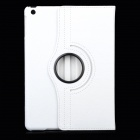 360 Degree Rotational Stylish PU Case w/ Stand for Ipad AIR - White