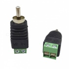 RCA Male Plug do AV konektoru 2-Terminal AV Adapter - Black + Green