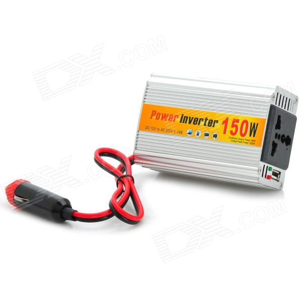 DC to AC Power Inverter for Car - Silver
