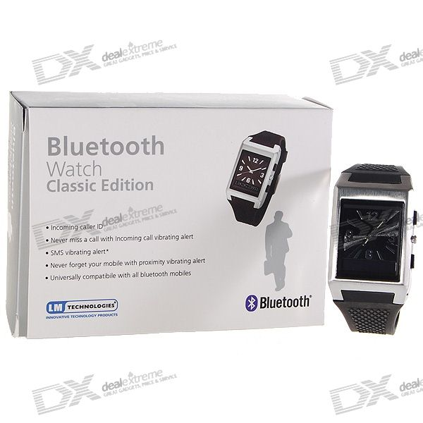 Bluetooth Cell Phone Caller ID Display Vibrating Wristwatch
